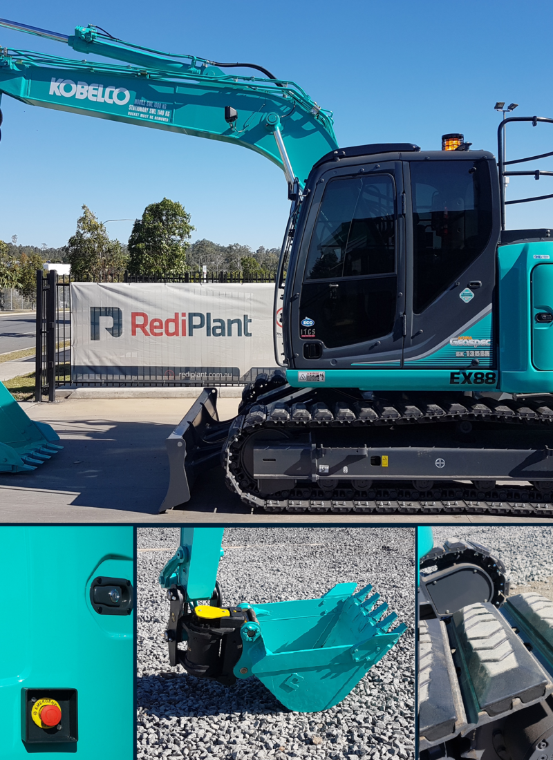 Today we added a new Kobelco SK135SR-2 Excavator to our hire fleet