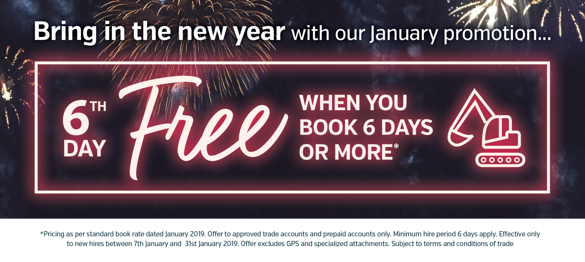 6th day free when you book for 6 days or more